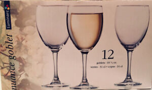 Brand New - Set of 12 Nuance Goblet Wine Glasses
