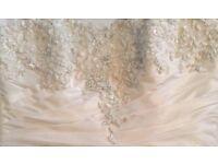 MAGGIE SOTTERO HAMPTON WEDDING DRESS Ivory Lace Diamanté Embroidery Bead Ruching Bohemian Designer