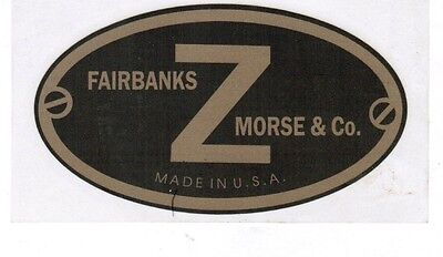 Fairbanks Morse Z Hit Miss Gas Engine Motor Decal