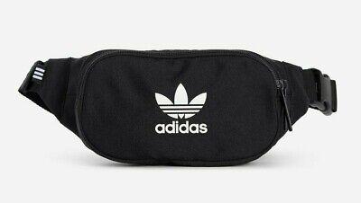 Adidas Waist Bag Bum Crossbody Bag Fanny Pack Black Money Holder BNWT