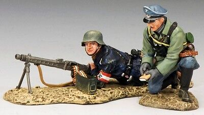KING & COUNTRY WW2 GERMAN ARMY WS190 M42 MACHINE GUN INSTRUCTION MIB