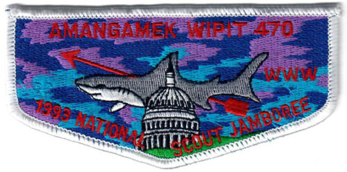 Order of the Arrow (OA) Flap Lodge 470 Amangamek-Wipit S19a 1993 Jamboree