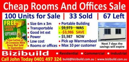Site Offices 6m x 3m $9,973 reduced to $5,985 Portable Building Warrnambool 3280 Warrnambool City Preview