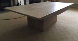 Natural stone coffee table and side table