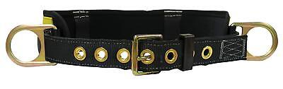 Falltech 7056s Padded Positioning Belt With 2 D-rings Blackyellow X-small