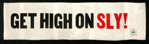 "SLY & THE FAMILY STONE RARE PROMO ""GET HIGH ON SLY!"" BUMPER STICKER!"