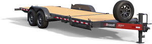 Brandt 22' Tilt Deck Trailer: 8-Ton Series Bumperpull