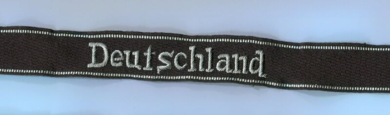 German 2nd Div.  1st Reg Cuff Title copy officer type 2