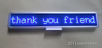 Led Moving Scrolling Message Display Sign Board 21x4 Indoor Programmable Blue