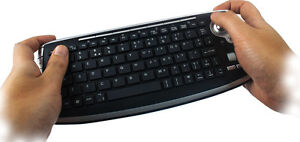 Sumvision Rio Wireless Mini QWERTY Keyboard and built in Trackball mouse