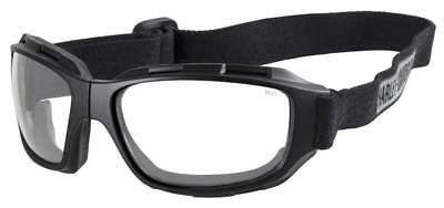 Harley-Davidson Men's Bend Clear Lens Goggles, Collapsible Black Frames HABEN03