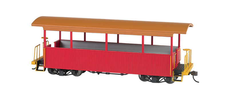 Bachmann 26002 On30 Excursion Car Red with Tan Roof