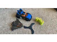 Batman Batwing and batmobile toys