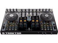 Traktor S4 Mixer & Cover + Software + 10,000 and more DJ Tracks (House, Deep, Techno worth £ 6,000+)
