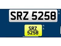 SRZ 5258 private cherished personalised personal registration plate number fee included