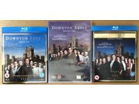 Downtown Abbey series 1,2,3 blu ray and DVD's