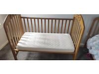 Mamas and Papas baby cot with mattress