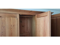 Wardrobe - Triple Solid Pine with 3 doors + 3 drawers VGC