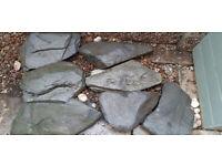 Extra Large Welsh slate rockery stones.