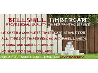 Bellshill Timbercare: Professional Fence, Shed and Decking Painting Service