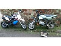 2x Mini moto midi moto monkey bike dirt bike