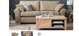 NEXT Garda Large Sofa, Snuggle Chair, Cube, and Cushions