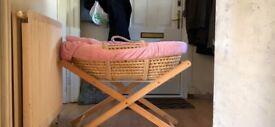 Moses Basket Hardly Used