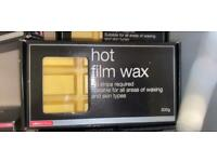 Hot film wax