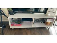 """White wooden TV stand up to 55"""""""