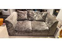 2 seater crushed velvet sofa