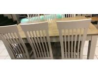 6-8 foot table and chairs special offer