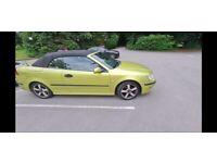 Saab, 9-3, Convertible, 2005, Manual, 1998 (cc), 2 doors - LIME GREEN, MOT Feb 22