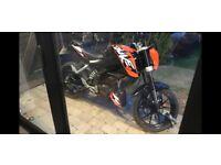 KTM Duke 200cc registered as 125cc