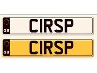 Rare private cherished number plate registration No: C1RSP CRISP CRISPY