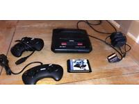 SEGA MEGA DRIVE 2 CONSOLE WITH EVERDRIVE FLASH CART AND 100s OF GAMES !