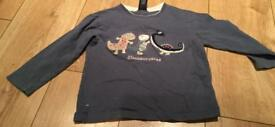 Next dinosaur long sleeve top age 2-3 years