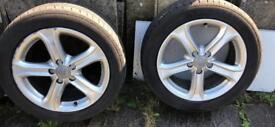 Audi 5x112 17' genuine alloys with tires