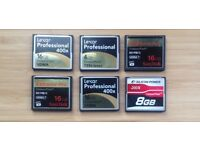 Assorted Compact Flash memory cards