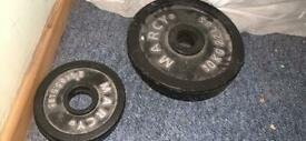 Cast iron Olympic weight plates