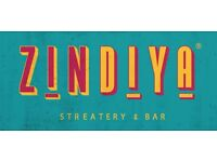 Full & Part Time Bar/Waiting Staff Required for Zindiya Streatery & Bar - Moseley