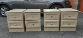 BEDSIDE CABINETS - Two pairs available