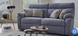 Grey 3 str manual recliner sofa - 10 months old RRP £2k