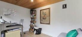 2 bed garden flat with garden office, Crouch send