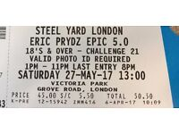3 x Eric Prydz EPIC 5.0 tickets available - Steelyard @ Victoria Park London