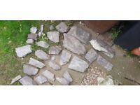 Plum Slate rockery stones and chippings