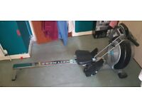 Wind resistant rowing machine