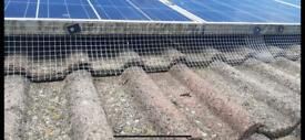 Solar panel Bird exclusion gutter clean