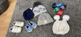 Shoes hats and socks