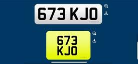 673 KJO private cherished personalised personal registration plate number fee included