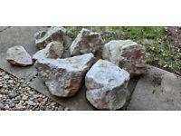 Large White rockery stones
